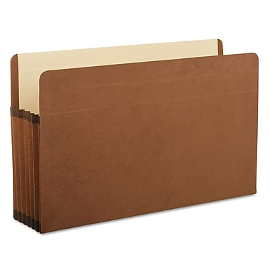 Pendaflex® Premium Reinforced Expanding File Pockets, Red, Legal, 5/Each (85565)