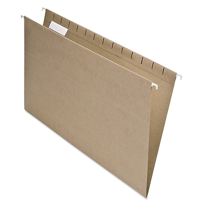 Pendaflex® Earthwise® 100% Recycled Colored Hanging File Folders, Natural, Legal, 25/Box (76542)