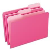 Pendaflex® Colored File Folders, Legal, Pink/Light Pink, 100/Box (1531/3PIN)
