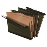 "Recycled Hanging Classification Folders, Green, 8 1/2'' x 11"", 10/Pk"