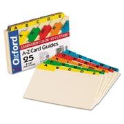 Oxford Manila Index Card Guides with Laminated Tabs, 4 x 6, Manila, 1/Set (04635)