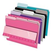 Pendaflex® Interior File Folders, Letter, Assorted, 100/Box (421013ASST2)