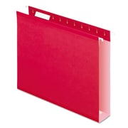 Pendaflex® Extra Capacity Reinforced Hanging File Folders with Box Bottom, Red, Letter, 25/Box (4152X2RED)