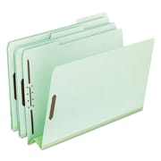 Pendaflex® Heavy-Duty Pressboard Folders with Embossed Fasteners, Top Tab, Green, 25/Box (17182)