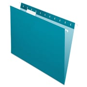 Pendaflex® Essentials™ Colored Hanging Folders, Teal, Letter, 25/Box (81614)