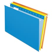 Pendaflex® Essentials™ Colored Hanging Folders, Assorted, Legal, 25/Box (81632)