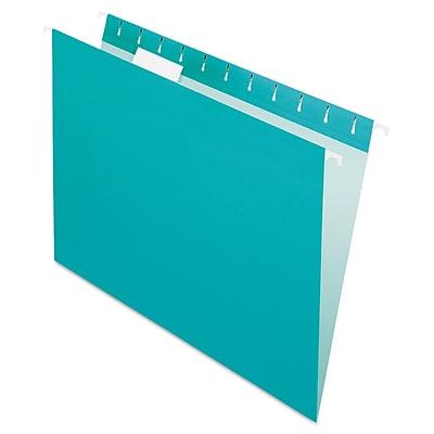 Pendaflex® Essentials™ Colored Hanging Folders, Aqua, Letter, 25/Box (81616)