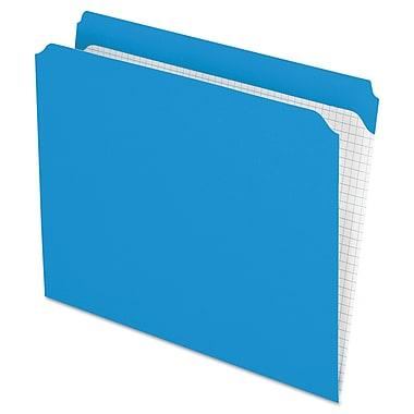Pendaflex Double-Ply Reinforced Top Tab Colored File Folders, Letter, Blue, 100/Box (R152BLU)