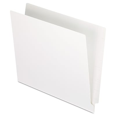 Pendaflex Reinforced End Tab Folders, Two Ply Tab, Letter, White, 100/Box
