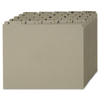 Esselte® Alphabetical Pressboard File Guide, Unruled, Gray, 11.875