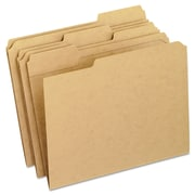 Pendaflex® Dark Kraft File Folders with Double-Ply Top, Letter, Brown, 100/Box (RK152-1/3)