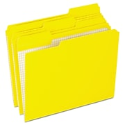 """Esselte Reinforced Top File Folder, 1/3 Tab Cut, Yellow, LETTER-size Holds 8 1/2"""" x 11"""", 100/Bx"""