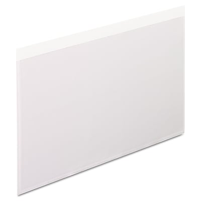 Pendaflex® Self-Adhesive Vinyl Pockets, 5 x 8, Clear, 100/Box (99377)