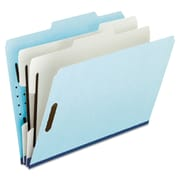 Pendaflex® Four- and Six-Section Classification Folders, Top Tab, Blue, 10/Box (930025RCP2)