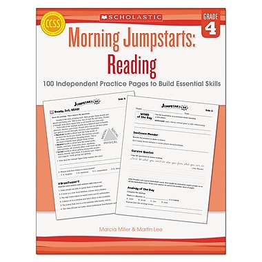 Scholastic Morning Jumpstarts: Reading, Reference Books, Reading, Grade 4, Each (546423)