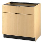 "HON  Modular Hospitality 36"" Double Base Cabinet, Natural Maple"