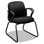 HON® Gamut® Series Guest Arm Chair, 100% Polyester, Loop, Black (H2073.CU10.T)