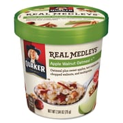Quaker® Real Medleys™ Oatmeal, Apple Walnut Oatmeal+™, Oatmeal, 2.64 oz (030000315507)