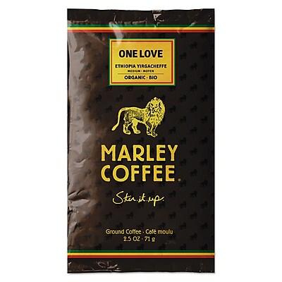 Marley Coffee® Fractional Packs, One Love, 2.5 oz, 18/Box (435-500-0-1810)