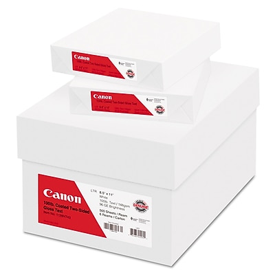 Canon® Coated Two-Sided Gloss Text Paper, 8 1/2 x 11, White, 3000/Carton (1128V743)