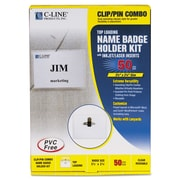 C-Line® Name Badge Kits, 50/Box (95723)