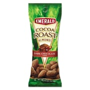 Emerald® Snack Nuts, Cocoa Roast Almonds, Tube Nuts 1.5 oz, Box of 12 (0184337)
