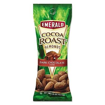 Emerald® Snack Nuts, Cocoa Roast Almonds, Tube Nuts, 1.5 oz (0184337)