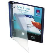 Avery® See-Thru™ View Binder with Round Rings, 11 x 8 1/2, View, Each (10801)