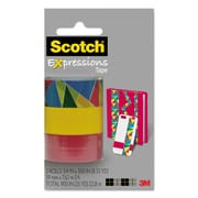 "Scotch® Expressions Magic™ Tape, Stained Glass; Yellow; Red, Glues/Adhesives, 3/4"" x 300"", 100/Roll (C214PK10)"