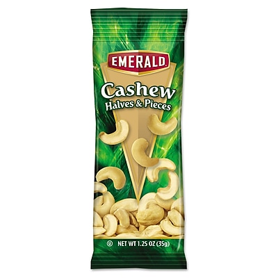 Emerald Snack Nuts, Cashews, Tube Nuts, 1.25