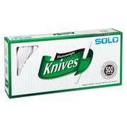 SOLO® Cup Company Heavyweight Plastic Cutlery, Knife, Polystyrene Plastic, White, 500/Carton (827271)