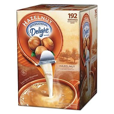 International Delight® Flavored Liquid Non-Dairy Coffee Creamer, 0.4375 oz, Hazelnut, 192/Carton (827965)