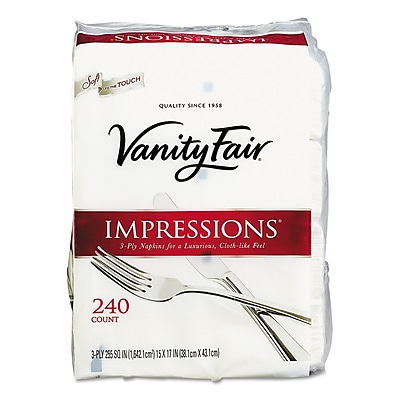 Vanity Fair® Entertain Napkins, 3-Ply 240 Napkins/Pack (355831)