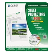 C-Line® Specialty Sheet Protector, Clear, 100/Each (62617)