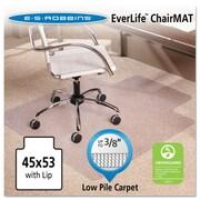ES Robbins Robbins® 53''x45'' Vinyl Chair Mat for Carpet, Rectangular w/Lip, Clear (ESR128173)