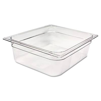 Rubbermaid® Commercial Cold Food Pans, 7.875 qt, Clear (RCP 124P CLE)