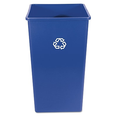Rubbermaid® Commercial Square Recycling Container, 50.000 gal, Blue, Each (RCP 3959-73 BLU)