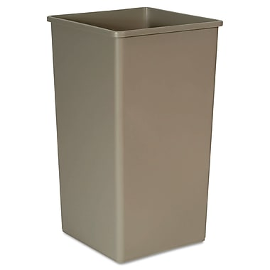 Rubbermaid® Commercial Untouchable® Square Container, 50.000 gal, Beige, Each (RCP 3959 BEI)