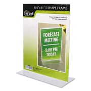 NuDell™ Clear Plastic Sign Holders, Plastic, Each (38020Z)