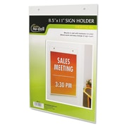 NuDell™ Clear Plastic Sign Holders, Plastic, Each (38011Z)