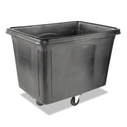 rubbermaid commercial cube truck 600 lbs capaity black each rcp