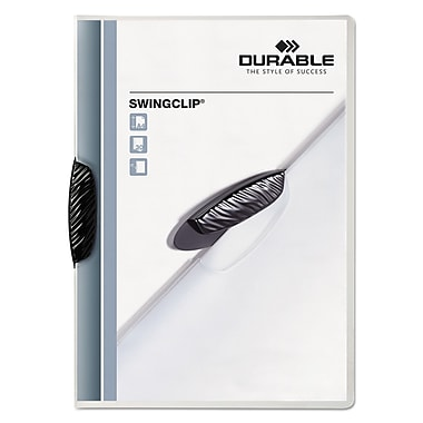Durable® Swingclip™ Clear Report Cover, Clear/Clear, 25/Box (2263-01)