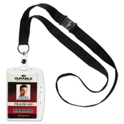 """Durable® ID/Security Card Holder Sets, Clear, 3 3/8"""" x 2 1/8"""", 10/Pack (826819)"""