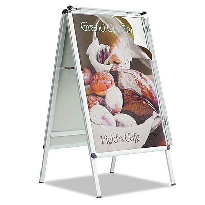 Quartet® A-Frame Sign, Aluminum, 28 1/2