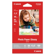 Canon® GP-601 Glossy Photo Paper, Glossy, 4 x 6, White, 100/Pack (8649B002)