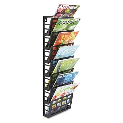 "Safco® Grid Magazine Rack, 9 1/2"" x 5 1/2"" x 29 1/2"", Black, Each (4662BL)"