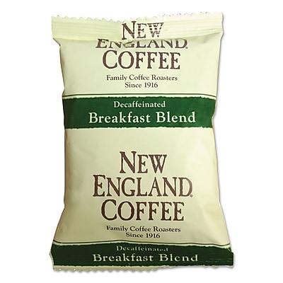 New England Coffee Coffee Portion Packs, Breakfast Blend Decaf, 2.5 oz, 24/Carton (026160)