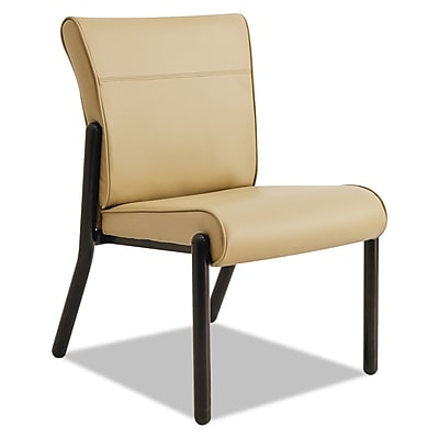 La-Z-Boy® Contract Gratzi Reception Series Guest Chair, Vinyl, Taupe, Each (LF14N,HUDTAUPE)