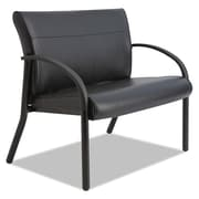 La-Z-Boy® Contract Gratzi Reception Series Bariatric Guest Chair, Antimicrobial Vinyl, Fixed Arms, Black (LF14N,HUDBLK)