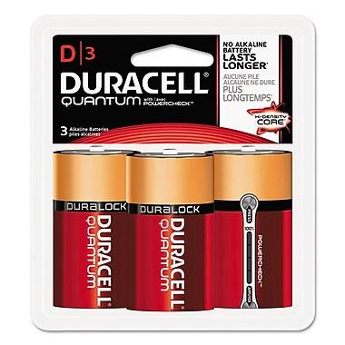 Duracell® Quantum Alkaline Batteries with Duralock Power Preserve™ Technology, D, 8/Carton (DURQUD3RFP)